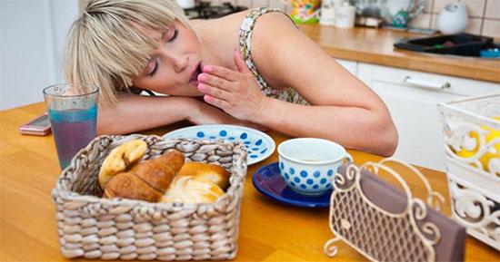 Сонливость и слабость после еды